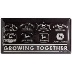 plaque métallique vintage John Deere noire