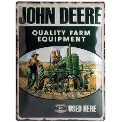 Plaque métal John Deere vintage