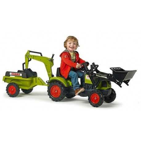 Tracteur pour enfants CLAAS remorque+chargeuse avant arriere