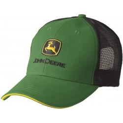 Casquette John Deere verte et noire