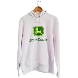 Sweat John Deere Blanc Homme