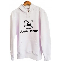 Sweat Zippé John Deere Blanc Homme