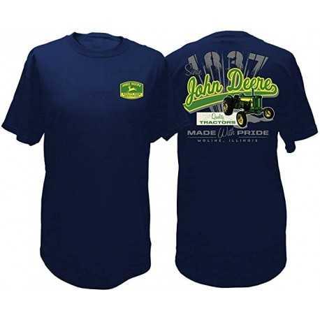 t-shirt John Deere Bleu Homme