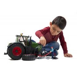 Tracteur FENDT 1050 Vario miniature avec mécanicien