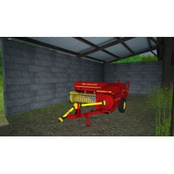 Vieille presse à balles New Holland 378 FS19