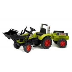 Tracteur à pédales Claas Arion 430 avec Remorque