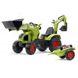 Tracteur à pédales Tracteur Claas Axos + accessoires