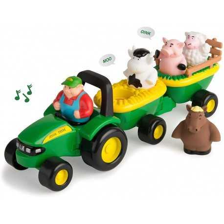 Tracteur John Deere avec animaux